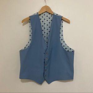 Vest black and blue reversible
